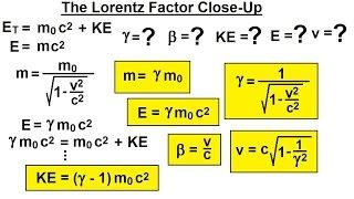 Physics - Special Relativity (32 of 43) The Lorentz Factor Close-Up