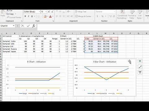 Simple Way To Create XBAR R Chart In Excel When Why To Use