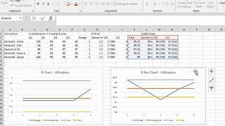 Einfache Möglichkeit zum Erstellen von XBAR-R Chart in Excel. Wann? Warum zu Verwenden? Erklärt