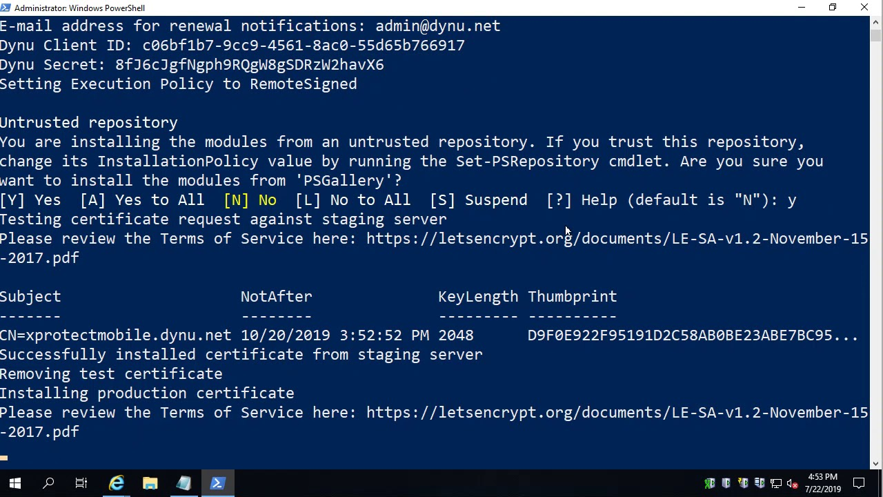 How to use Let's Encrypt certificates with XProtect Mobile Server
