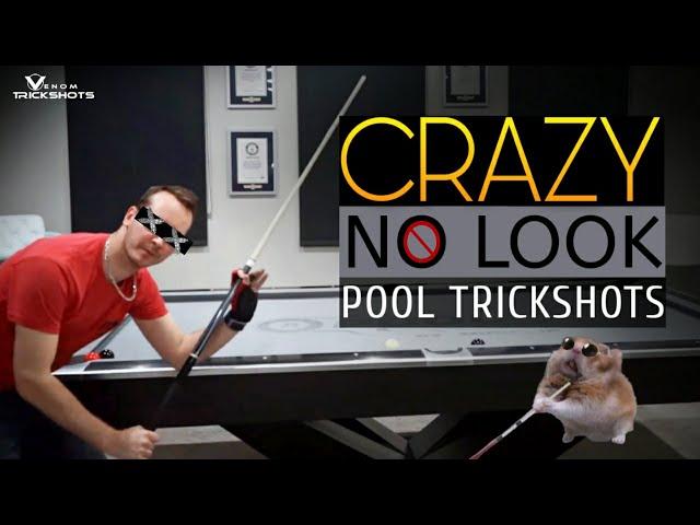 CRAZY NO-LOOK POOL TRICKS - Venom Trickshots