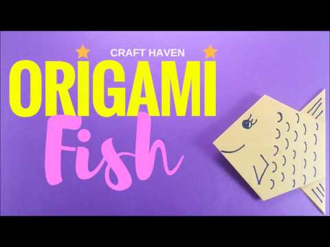 How To Make Origami Fish - Easy Origami Tutorial For Beginners - DIY Paper Fish - #Origami Animals