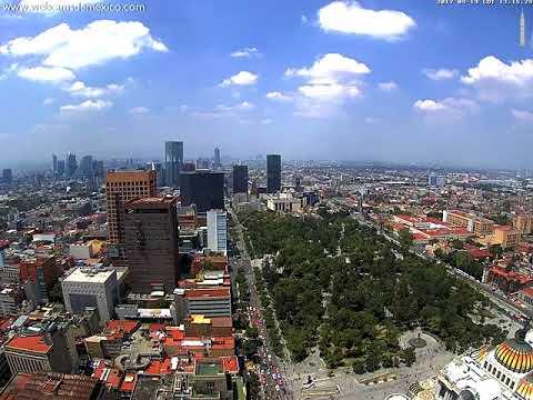 Sismo En La Ciudad De México 19 De Septiembre 2017 Visto Desde La Torre Latinoamericana