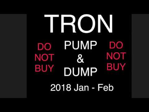 PUMP & DUMP TRON 2018 Dump And Run Crypto Currency Example Of A Pump And Dump. TRON IS CRASHING FAST
