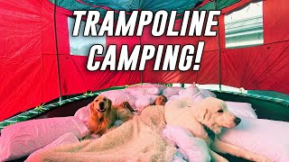 WE CAMPED OVERNIGHT ON OUR TRAMPOLINE! | Super Cooper Sunday #231