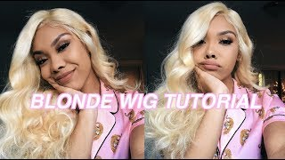 HOW I APPLY MY BLONDE WIG ft Ywigs.com 💇🏼♀️