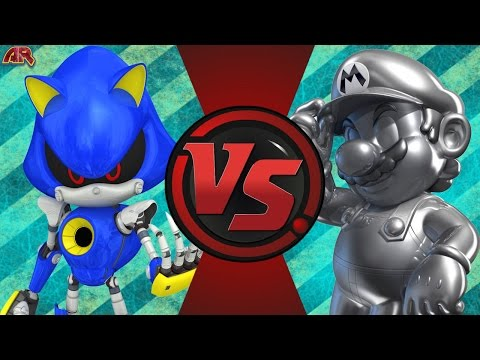METAL SONIC vs METAL MARIO! (Sega vs Nintendo) Cartoon Fight Club Episode 138