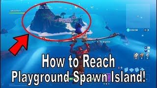 Fortnite - How to Reach the Playground SPAWN ISLAND (SECRET ISLAND) dans la saison 8 [Crazy Glitch!]