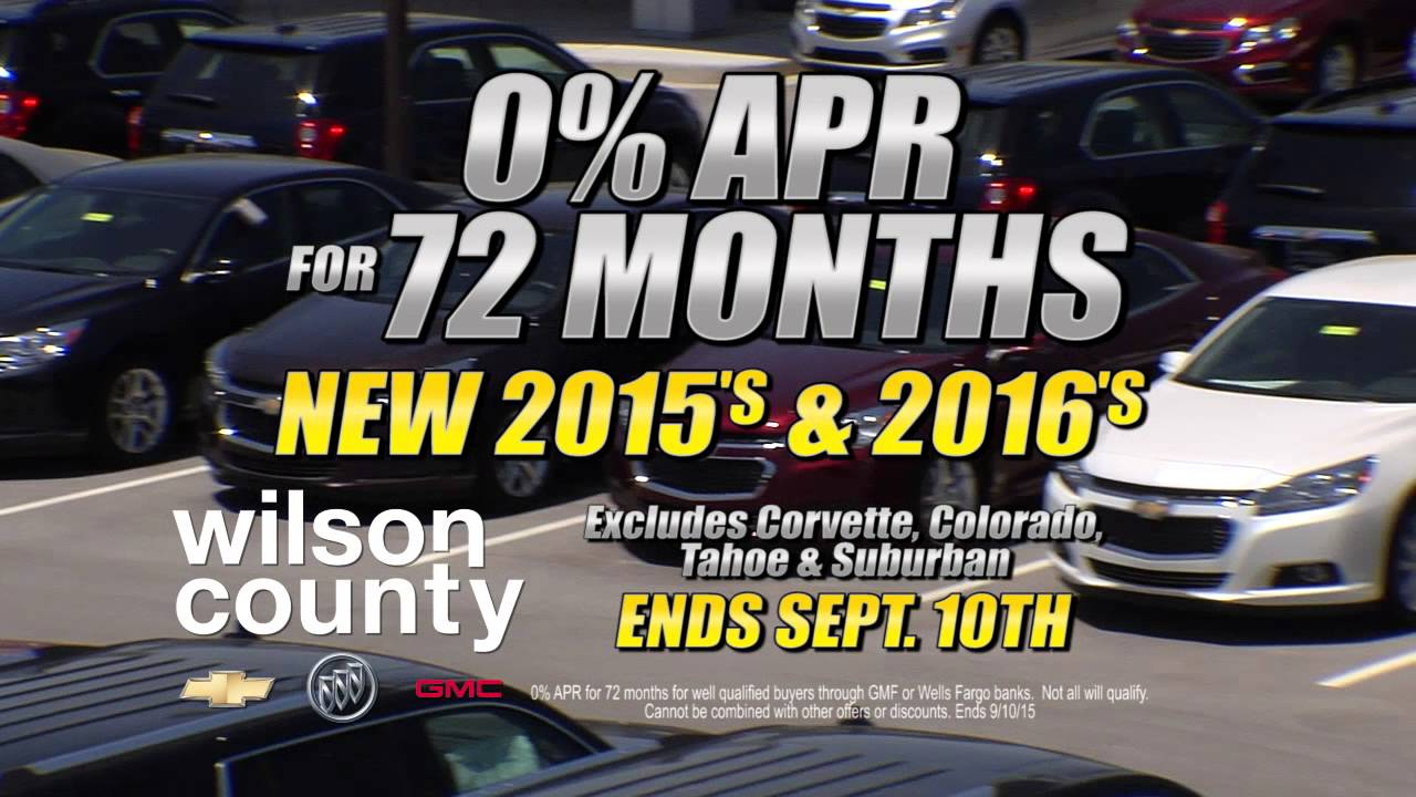 labor day 0 apr for 72 months on 2015 2016 chevrolet models at wilson county motors lebanon tn. Black Bedroom Furniture Sets. Home Design Ideas