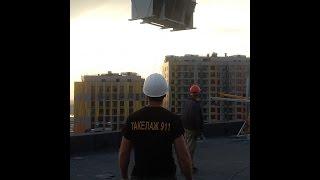 Такелажные работы по подъёму, перемещению и установке оборудования на здание, высотой 97 метров(, 2016-06-27T17:51:31.000Z)