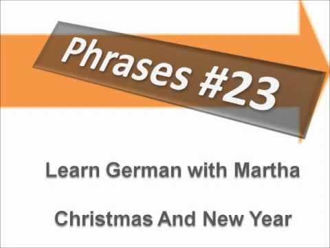 Dialogue Christmas And New Year - Phrases #23 - Learn German with ...