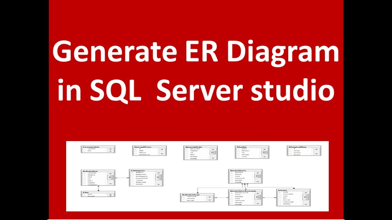 create er diagram with sql server youtube. Black Bedroom Furniture Sets. Home Design Ideas
