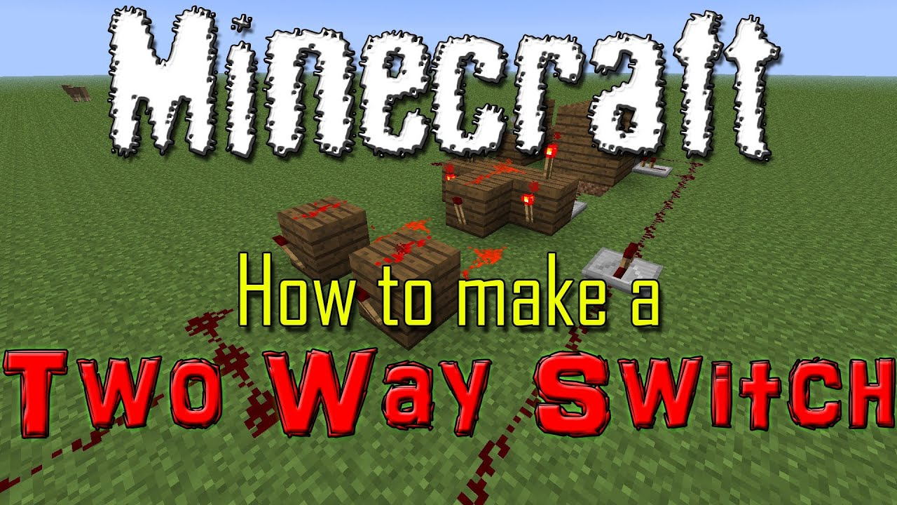 Minecraft Simple Two Way Switch Youtube