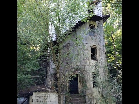 Abandoned Tellico Roundhouse Tellico Plains, TN found remains from the Southern Slate mine co mine..