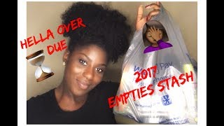 HELLA OVER DUE 2017 EMPTIES STASH | RUTH NANDA