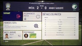 Brésil VS Arabie Saoudite 2-0
