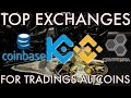 Top 10 Best Cryptocurrency Exchanges in 2019 - YouTube
