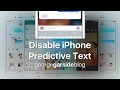 Disable iPhone Predictive Text (T9, Dictionary, Keyboard Helpers)