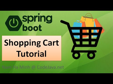 Spring Boot Shopping Cart Tutorial with MySQL Database, Thymeleaf, Bootstrap and jQuery