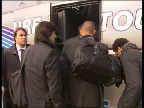 Real Madrid land in Lyon
