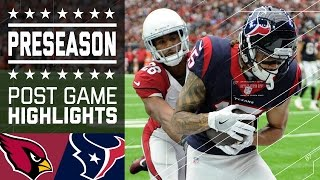 Cardinals vs. Texans | Post Game Highlights | NFL