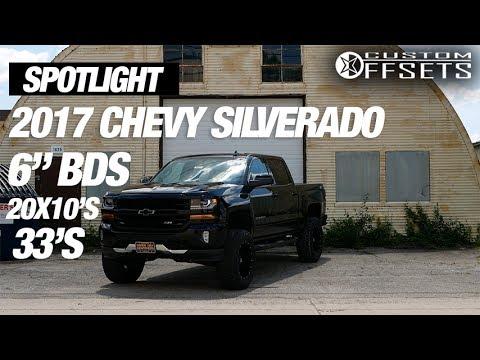 """Spotlight - 2017 Chevy Silverado 1500, 6"""" BDS"""", 20x10's, and 35's"""
