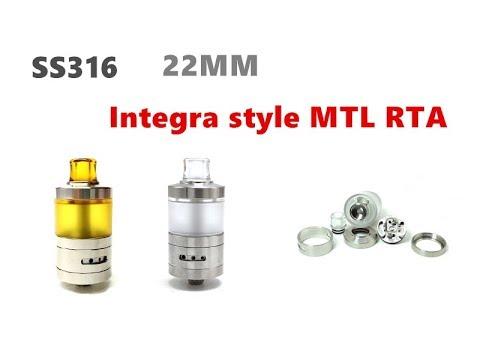 SS316 Integra Style 22MM MTL RTA Tank Atomizer From Wejoytech