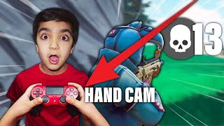 MY LITTLE BROTHER PLAYS FORTNITE WITH A HAND CAM FOR THE FIRST TIME! | FORTNITE 1V1 WITH HANDCAM!