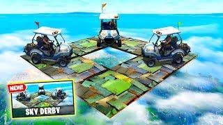 IMPOSSIBLE Sky Derby Custom Gamemode in Fortnite Battle Royale