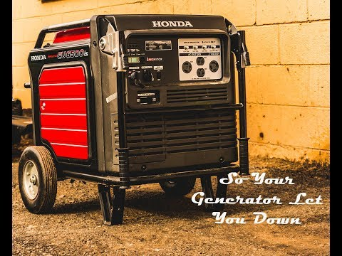 The Generator Won't Start - Now What?