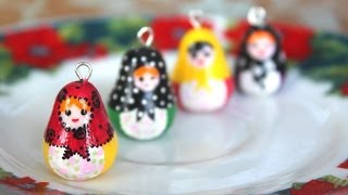 DIY: Matryoshka {Nesting} Doll // Polymer Clay Charm Tutorial