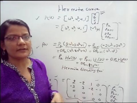 Hermite Curve in Computer Graphics in Hindi