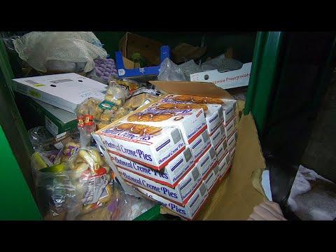 Dumpster Diving Aldi For Free Food #21
