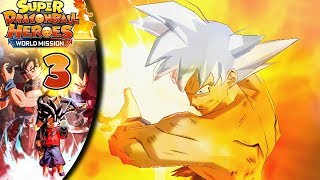 KAMEHAMEHA DIVINA! Goku Ultra Istinto. - Gameplay SUPER DRAGON BALL HEROES WORLD MISSION ITA Ep. 3