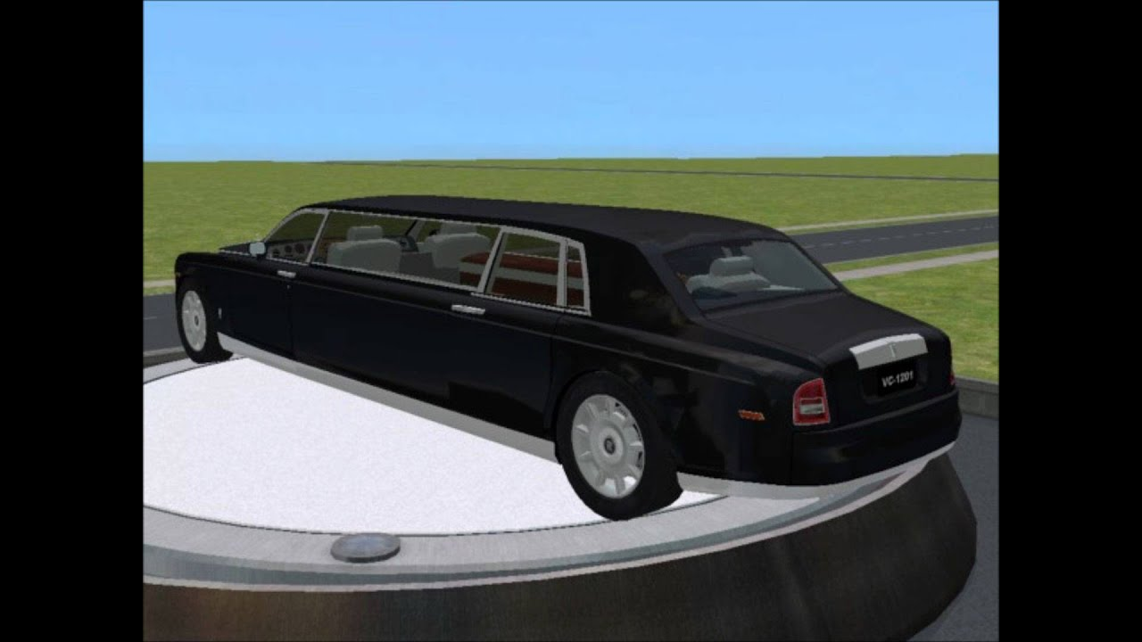 Rolls Royce Limo >> Sims 2 Car Conversion by VoVillia Corp. - 2004 Rolls-Royce Phantom Limosine - YouTube