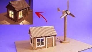 Increíble Maqueta de Mini Generador Eólico para la Escuela