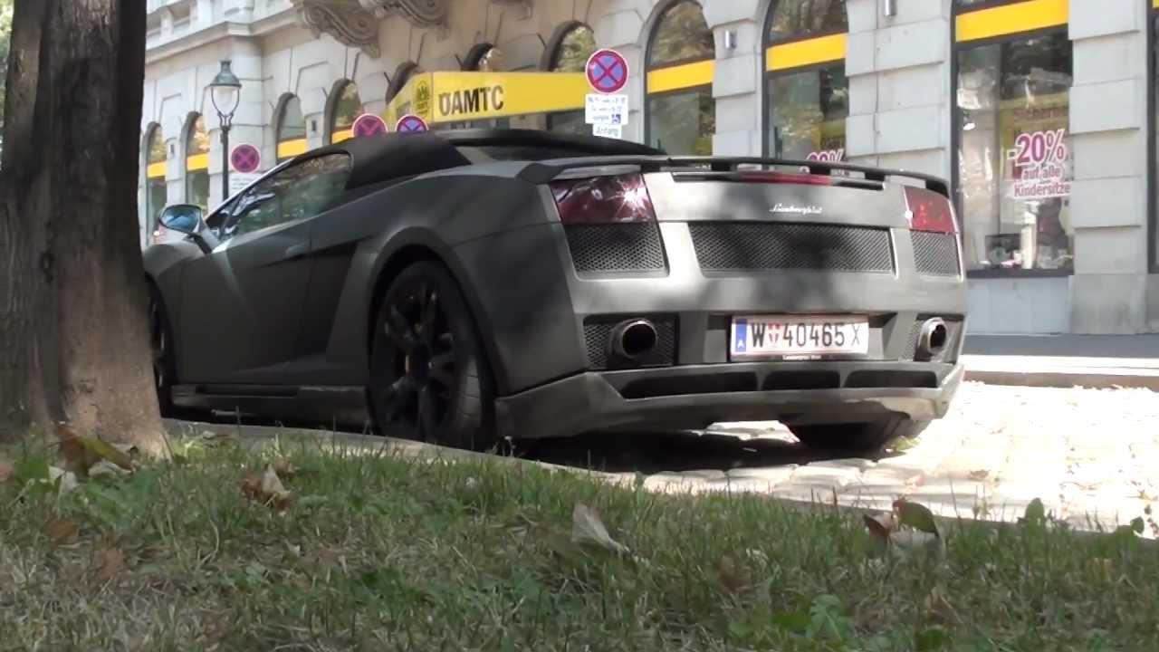 Matte Black Hamann Lamborghini Gallardo Spyder Walkaround In