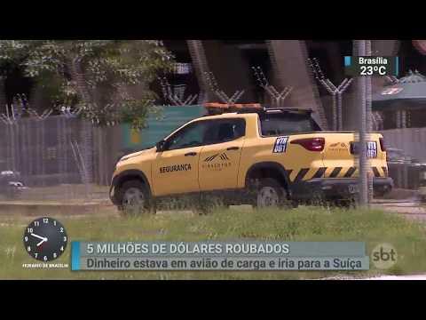 Bandidos invadem aeroporto de Viracopos e roubam US$ 5 milhões | SBT Brasil (05/03/18)