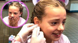 BABYTARD GETS HER EARS PiERCED!!! 👂🏻