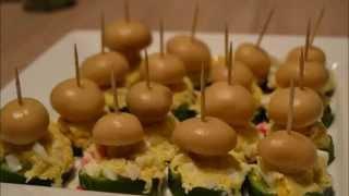 Закуска(салат) - Грибная поляна.Новогодний. Видео рецепт