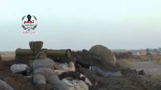 ATGM hit T72 tank in Homs area
