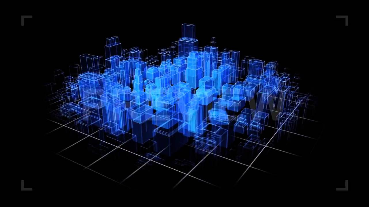 3d Wallpaper Blue Red City Hologram Stock Motion Graphics Youtube