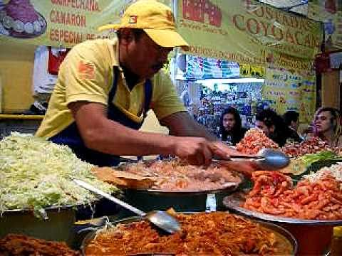 Tostadas makers Coyoacan Market, Mexico City