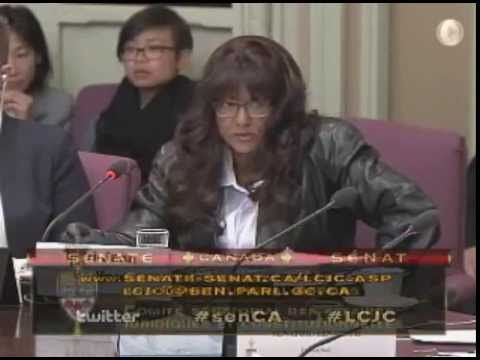 Terri-Jean Bedford at Senate Committee 2014-09-10