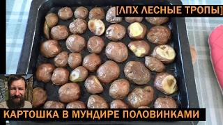Картошка в духовке половинками в кожуре (после курицы)
