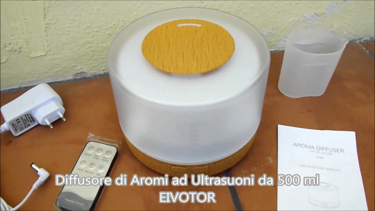 Diffusore di aromi ultrasuoni da 500 ml umidificatore in for Diffusore aromi ikea