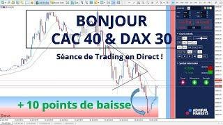 #DAX30 CFD - Séance de Trading en Direct - Bonjour CAC40 & DAX30 le 16/01