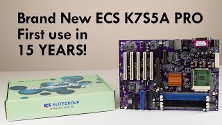 ECS Elitegroup K7S5A Pro Socket A Motherboard Review - First Boot in 15 years