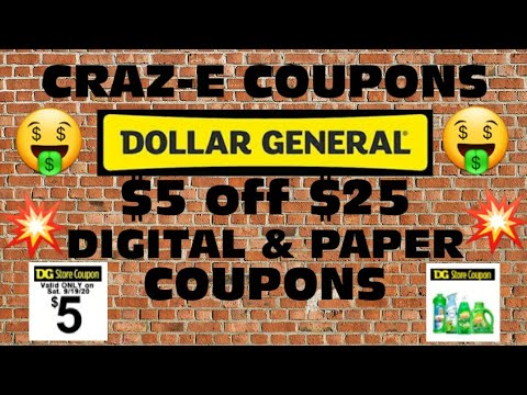 💥Dollar General $5 Off $25 Breakdowns💥Digital And Paper Coupons💥#dollargeneralcouponingthisweek