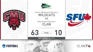 SFU Football vs. CWU - September 22, 2018